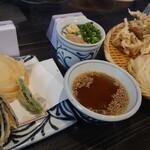 152459340 - いか天ざる+野菜天盛(3種) 400円
