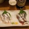 豊田屋 - 料理写真:2012.10 太刀魚刺(600円)、新さんま刺(400円)
