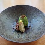 無彩庵 池田 - 料理写真:蕗の薹に包まれた月の輪熊のリエット。
