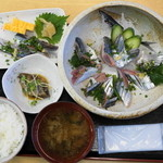 野口鮮魚店 - 2012.10 特上新さんま丼&にぎり定食(850円)