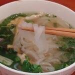 タン・カフェ - ツルツルの食感、スープが旨い