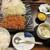 和幸 - 料理写真:ひれかつ御飯+茶碗蒸し