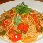 チロル - 海老と茸のトマトスパゲッテー