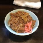 兎に角 - 牛すじ丼(ミニ)¥270