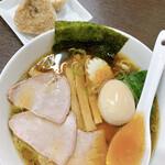 とら食堂 - 焼豚麺 1,030円 焼豚おにぎり 90円