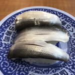 無添くら寿司 - こはだ3貫盛り