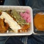 みゆき弁当 - 料理写真:タルタルのり弁&コロッケ