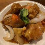 天天菜館 - 料理写真:酢豚定食の酢豚