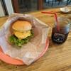 CHIBARU CAFE - 料理写真:チーズバーがーとアイスコーヒー