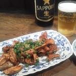 米久 - ホルモン(ソース味 450円)