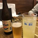 沖縄料理と島酒 星屑亭 - オリオンビール ハイサイボール