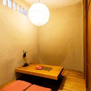 もも焼き旬魚 桜丸 - 内観写真:ほぼ全てのお席が個室仕様となります。