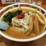 味の札幌 - 味噌カレーなんばんラーメン ヒリヒリする辛さです。