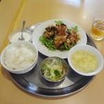 鑫隆楼 - 油淋鶏定食780円