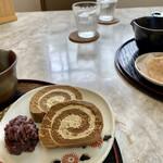 茶フェ ちゃきち - ほうじ茶ロール♫ コレはフツー(ToT)