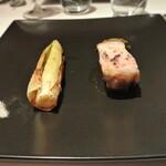 リストランテ カノフィーロ - 江別産黒豚ロース肉のグリーリア 行者ニンニクのサルサヴェルデ