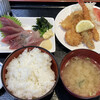 市場食堂 - 料理写真:かつお刺身セット(フライ付) 1,100円