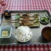 高瀬観光やな - 料理写真:B定食(焼鮎+ライスセット)
