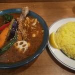 札幌スープカレーJACK - チキンベジカレー(中辛Lライス)
