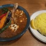 札幌スープカレーJACK - もう一枚、チキンベジカレー(中辛Lライス)