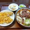 中村屋 - 料理写真:セットメニュー(馬肉うどん+ミニ天丼)