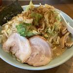 麺通 - ラーメン+野菜980円 麺大盛(無料)