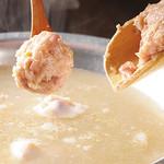とりなべ マルニ - 【旨味のつくね】柔らかな食感とあふれる旨味