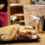 152574515 - サプライズの天ぷら花火