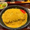金時 - 料理写真:かつ皿 ¥990 ツユの下には、カツとライスが隠れてます。