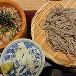 高田屋 - ごまそばと鯖飯のセット¥980+蕎麦大盛り¥110