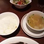 15259418 - セットのご飯とスープ