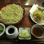 蕎麦奉行 - 車海老と野菜天婦羅 1550円