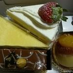 ガトーめぐろ - ケーキ4つ