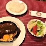 152617815 - 210604金 神奈川 洋食キムラ野毛店 ハンバーグセット1,450円