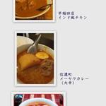 エスニックカリーメーヤウ - 早稲田・信濃町・ピキヌーと比較写真