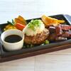 グリルレストラン モカ - 料理写真:おろしハンバーグ&カットステーキ ゆずポン酢