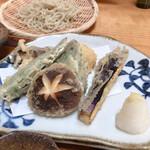 手打蕎麦ぐらの - 昼膳の野菜天ぷら