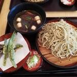 つぼみ家 - 鴨せいろ(大盛)+野菜天
