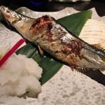 15263044 - 秋刀魚焼き(盛り付けが素敵です)