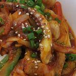 呑久里by檀君 - イカと豚肉をキムチと炒めてある