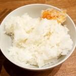 鶏ポタラーメンTHANK - ご飯小:100円