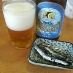 15265194 - 名物オーシャンビールとゴマ漬け