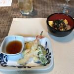 グラスコート - 主人のん 天ぷらとうな丼