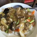 152651239 - タロさんが美味しそうに食べてた肉丼750円❣️目玉焼きトッピングすればよかった。