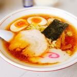 くるまやラーメン - 煮玉子中華