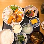 魚忠 - 魚忠ランチ メインは海老フライ(プラス280円)