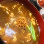 日本橋 やぶ久 - カレー汁には七味タップリっしょ