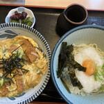 麺せい - カツ丼と山かけうどん