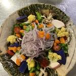 野趣家 - 川田農園野菜の彩りサラダ