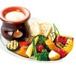 夏の温野菜バーニャカウダ